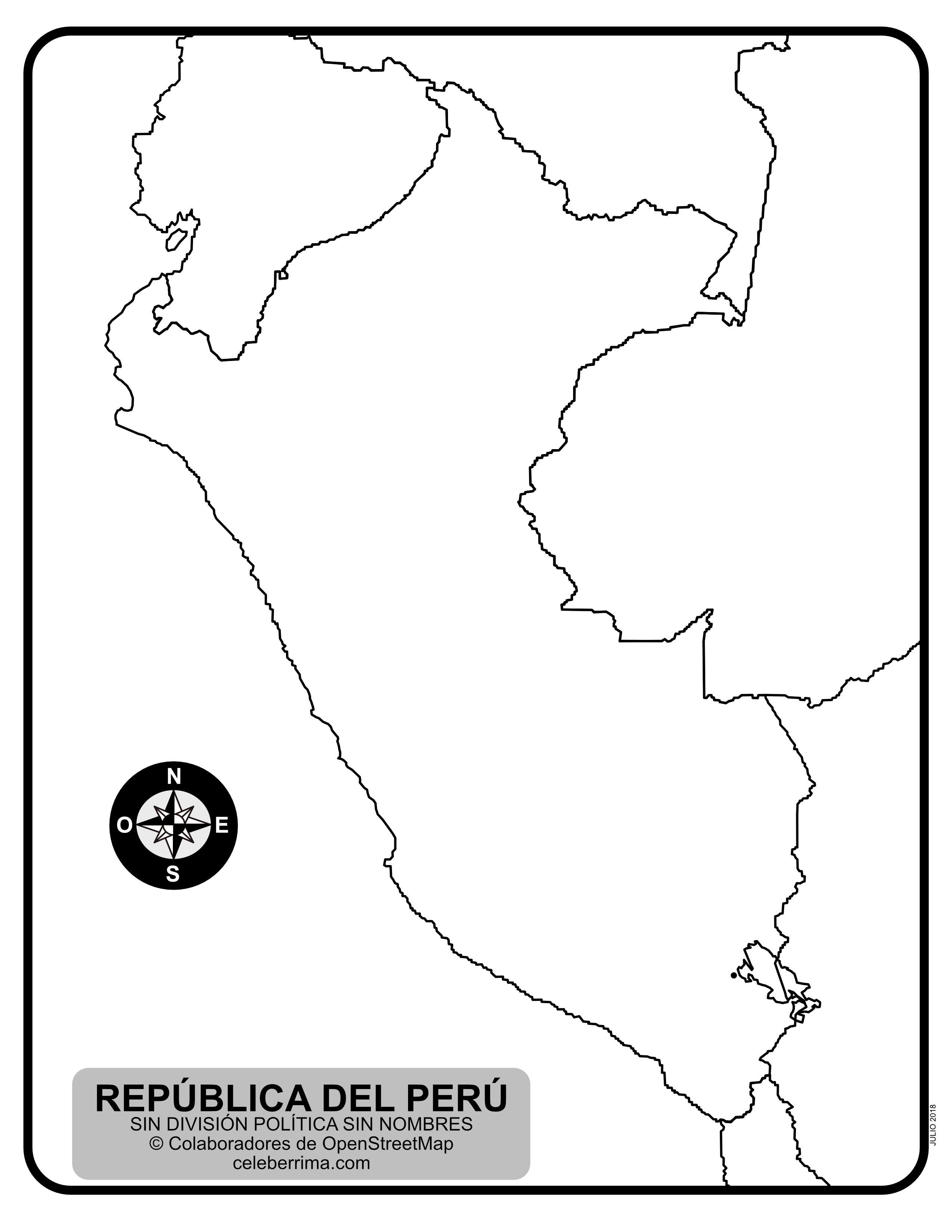 Mapa De Peru Con Departamentos Y Capitales Para Colorear Celeberrima Com